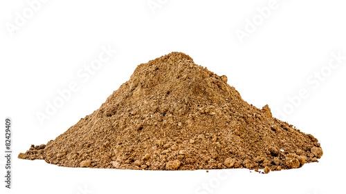 Pile of wood ash brown