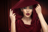 Portrait of the lady in red