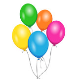 Vector Birthday Colorful Balloons Party - 82432800