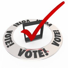 Vote Check Mark Box Election Choose Popular Choice Candidate