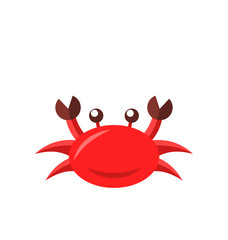 Cartoon funny crab isolated on white background