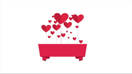 Cute heart icons, space to add text or design, Video animation