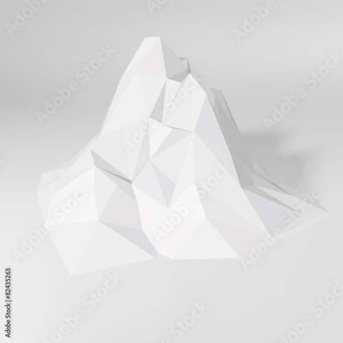 Low-poly Mountain Landscape - 82435263