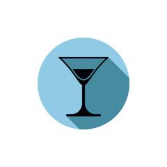 Classic half full martini glass, alcohol and entertainment theme