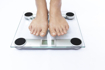 A scale with two feet
