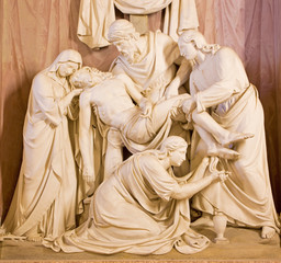 Rome - Deposition of the cross sculpture - Trinita dei Monti