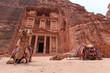 Leinwandbild Motiv The Treasury,Al Khazneh, in Petra, Jordan