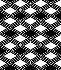 Illusive continuous monochrome pattern, decorative abstract back