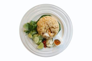 Thai shrimp fried rice with salted egg