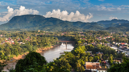 Viewpoint at luang prabang in laos.