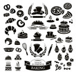 Set of bakery design elements and icons - 82442260