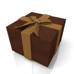 チョコレートで作ったプレゼント箱