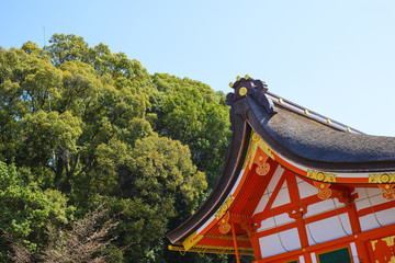 Traditional japanese temple roof