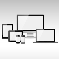 Computers, Tablets and Phones with White Screens