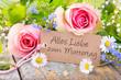 Leinwanddruck Bild - Alles Liebe zum Muttertag