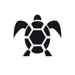 Vector sign abstract tortoise