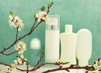 Spring composition with body care products