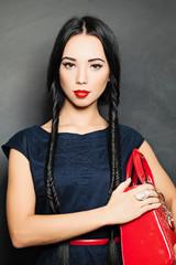 Portrait of beautiful sensual woman with elegant fashion hairsty