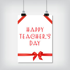 Stylish background for the holiday Teachers Day
