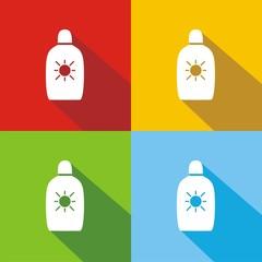 Icono crema solar COLORES