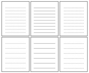 Collection of lined notebook pages