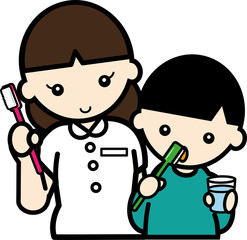 衛生士による歯磨き指導