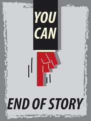Words YOU CAN END OF STORY