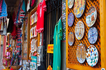 Shop with tourist souvenirs in Cordoba