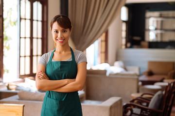 Pretty Vietnamese waitress