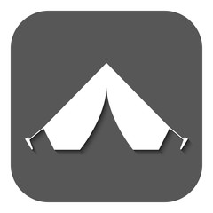 The tent icon. Travel symbol. Flat