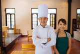 Team of restaurant workers