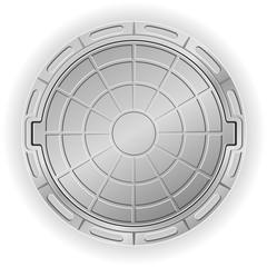 closed manhole vector illustration