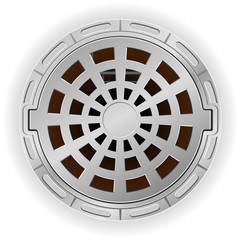 closed sewer pit with a hatch vector illustration