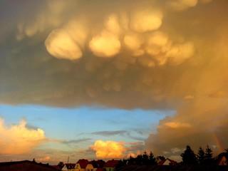 Wolkenbruch über Stralsund