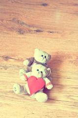 Teddy love with ink effect
