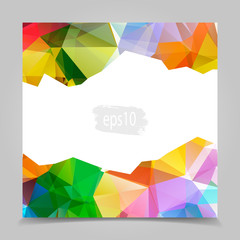 Abstract Colorful Triangular Polygonal geometric background
