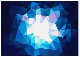 キュビズム背景_濃いブルー明るい光