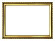 Leinwanddruck Bild - Goldrahmen Art Deco