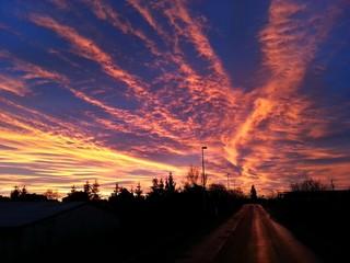 Sonnenaufgang über Stralsund