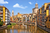 Historical jewish quarter in Girona. Spain, Catalonia.
