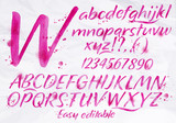 Fototapety Modern alphabet pink color.