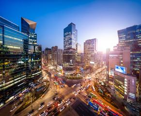 Gangnam business district in Seoul Korea