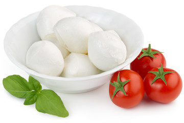 mozzarella, cherry tomatoes and basil