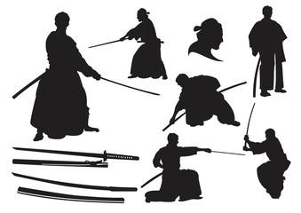 Japanese Samurai Warrior - Silhouette