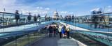 Panoramic view of the Millenium footbridge