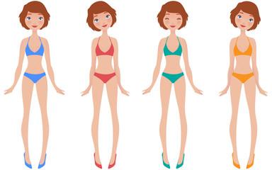 young girl swimwear
