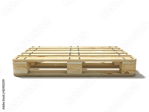 Euro pallet. Side view - 82492299