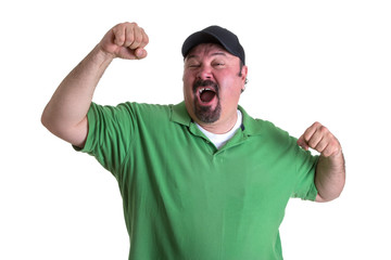 Man Feeling So Good After Winning Something