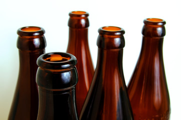 Glass bottles for industrial utilization.