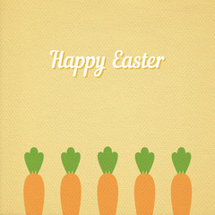 Easter carrots bed card